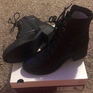 SO Black Combat Boots.  Size 8.5